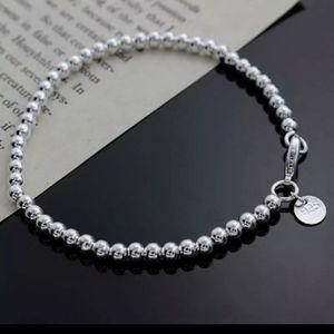 925 Beaded Bracelet 18cm NWOT